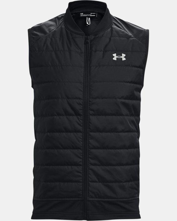 Men's UA Run Insulate Vest, Black, pdpMainDesktop image number 0