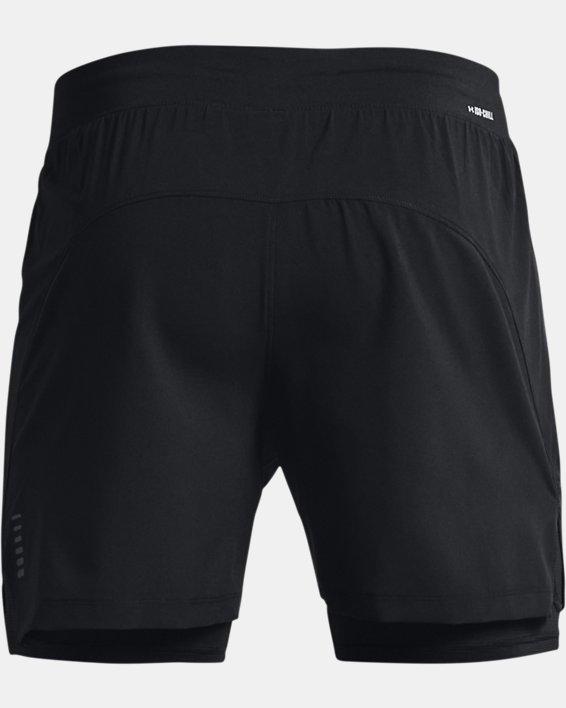 Men's UA Iso-Chill Run 2-in-1 Shorts, Black, pdpMainDesktop image number 5