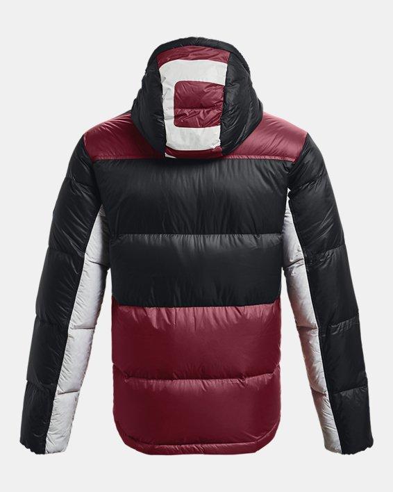 Men's ColdGear® Infrared Down Blocked Jacket, Red, pdpMainDesktop image number 7