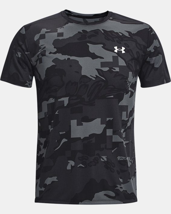 Men's UA Speed Stride Printed Short Sleeve, Black, pdpMainDesktop image number 3