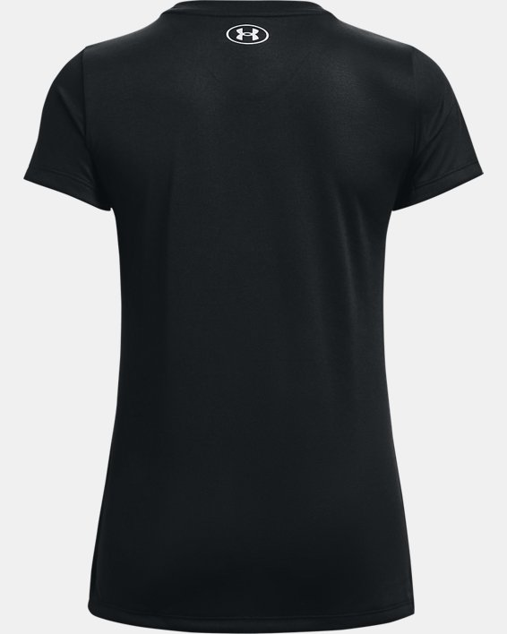 Women's UA Tech™ Graphic Short Sleeve, Black, pdpMainDesktop image number 5
