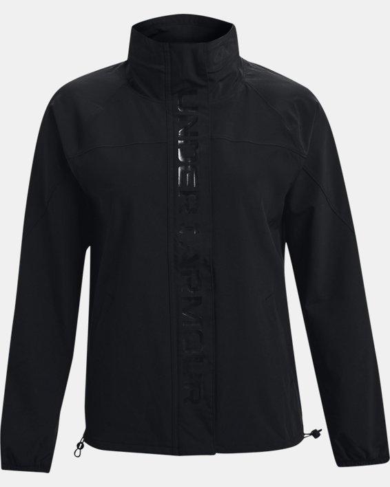 Women's UA RUSH™ Woven Jacket, Black, pdpMainDesktop image number 4