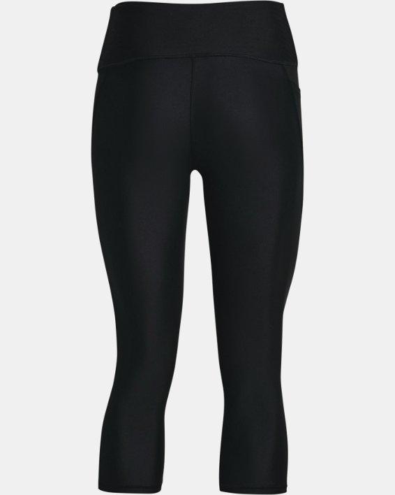 Women's HeatGear® Armour No-Slip Waistband Capris, Black, pdpMainDesktop image number 5