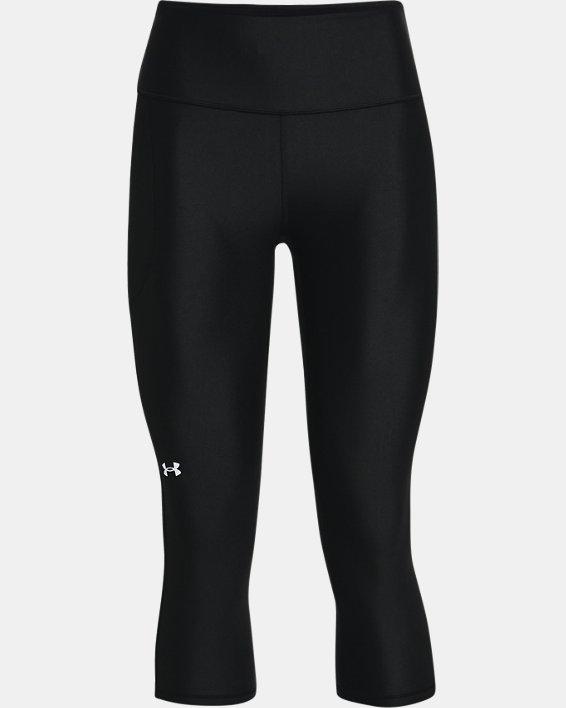 Women's HeatGear® Armour No-Slip Waistband Capris, Black, pdpMainDesktop image number 4