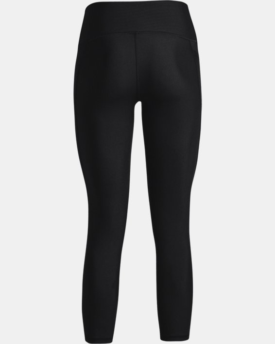 Women's HeatGear® Armour No-Slip Waistband Ankle Leggings, Black, pdpMainDesktop image number 5