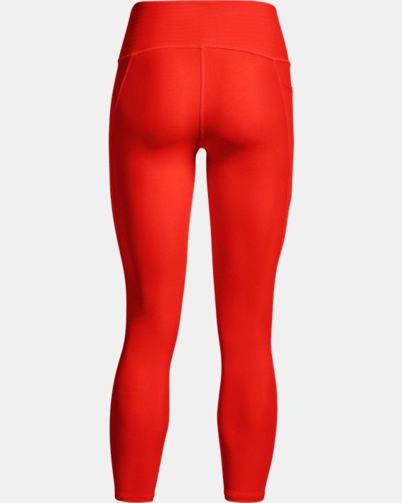Damen HeatGear® Armour No-Slip Waistband Ankle-Leggings, Orange, pdpMainDesktop image number 6
