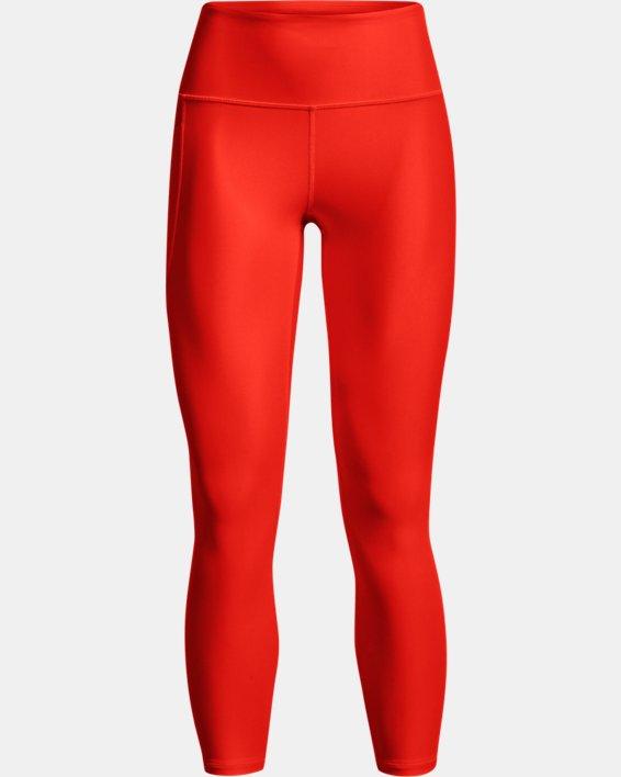 Damen HeatGear® Armour No-Slip Waistband Ankle-Leggings, Orange, pdpMainDesktop image number 5