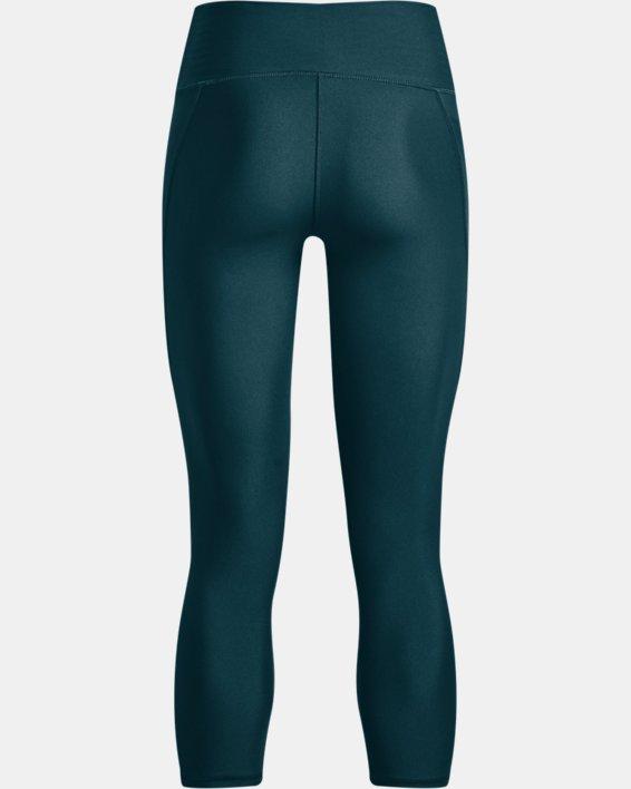 Women's HeatGear® Armour No-Slip Waistband Ankle Leggings, Blue, pdpMainDesktop image number 4