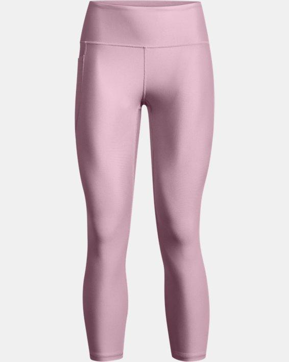 Women's HeatGear® Armour No-Slip Waistband Ankle Leggings, Pink, pdpMainDesktop image number 4