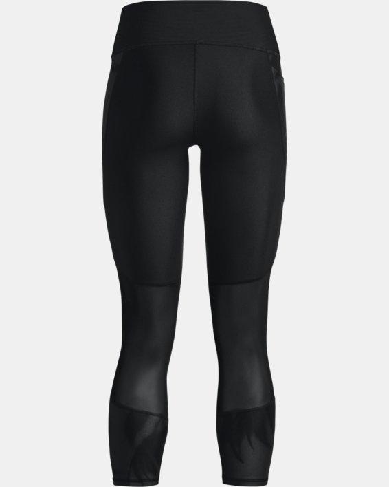 Women's HeatGear® Armour No-Slip Waistband Tonal Panel Ankle Leggings, Black, pdpMainDesktop image number 5