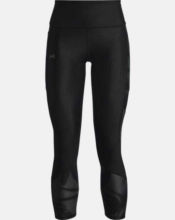 Women's HeatGear® Armour No-Slip Waistband Tonal Panel Ankle Leggings, Black, pdpMainDesktop image number 4