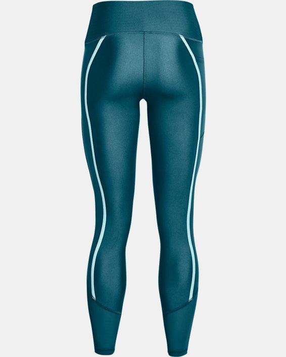 Women's HeatGear® Armour No-Slip Waistband Shine Mesh Full-Length Leggings, Green, pdpMainDesktop image number 5