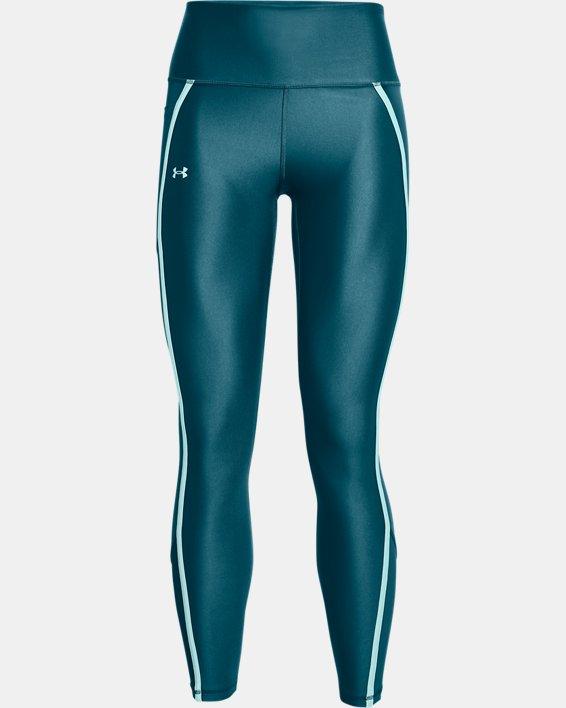 Women's HeatGear® Armour No-Slip Waistband Shine Mesh Full-Length Leggings, Green, pdpMainDesktop image number 4