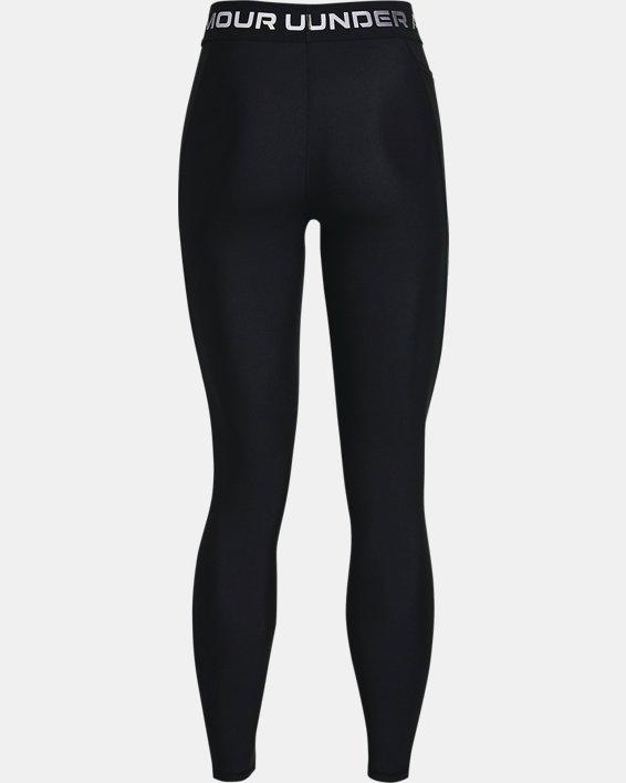 Women's HeatGear® Armour Wordmark Waistband Full-Length Leggings, Black, pdpMainDesktop image number 5