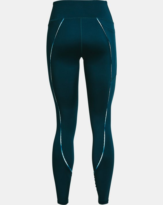 Women's UA RUSH™ No-Slip Waistband Scallop Full-Length Leggings, Blue, pdpMainDesktop image number 5