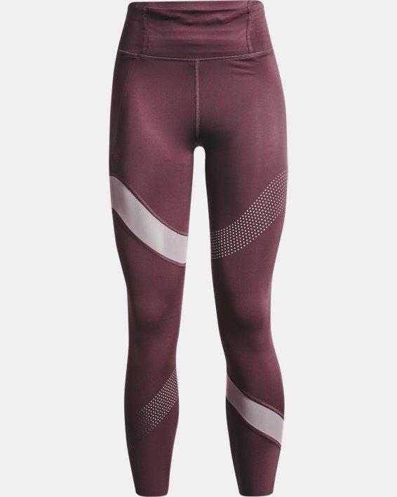 Women's UA Speedpocket Wave 7/8 Tights, Purple, pdpMainDesktop image number 4