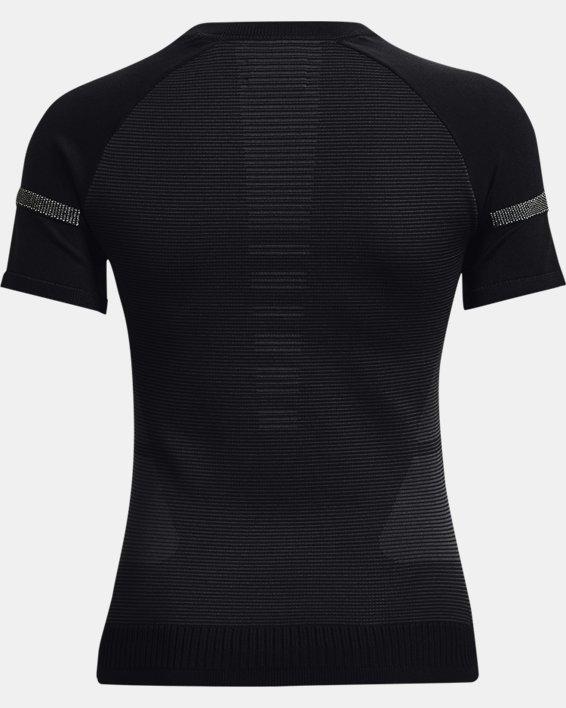 Women's UA IntelliKnit ¼ Zip Short Sleeve, Black, pdpMainDesktop image number 4