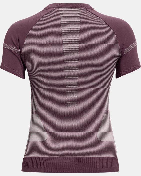 Women's UA IntelliKnit ¼ Zip Short Sleeve, Purple, pdpMainDesktop image number 5