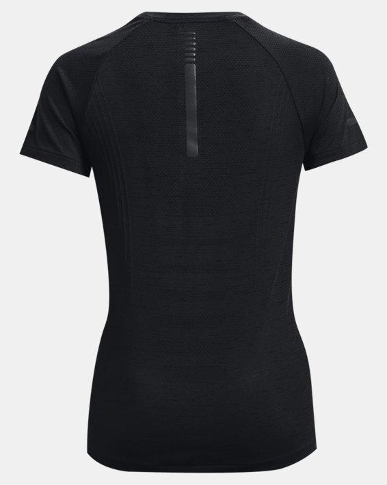 Women's UA Seamless Run Short Sleeve, Black, pdpMainDesktop image number 5