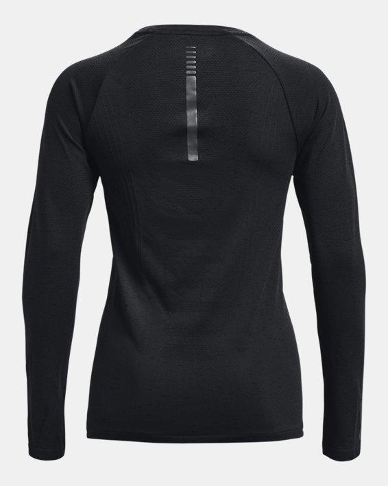 Women's UA Seamless Run Long Sleeve, Black, pdpMainDesktop image number 5