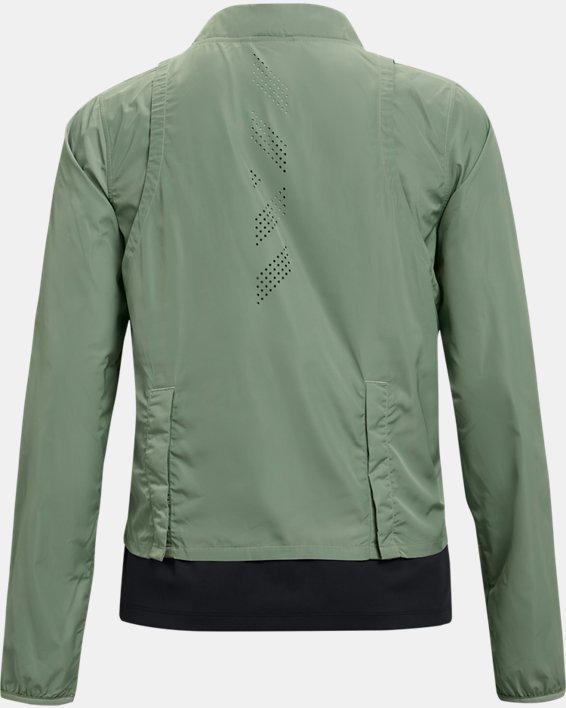 Women's UA Run Anywhere Laser Jacket, Green, pdpMainDesktop image number 5