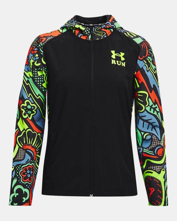 Women's UA Keep Run Weird Jacket, Black, pdpMainDesktop image number 4