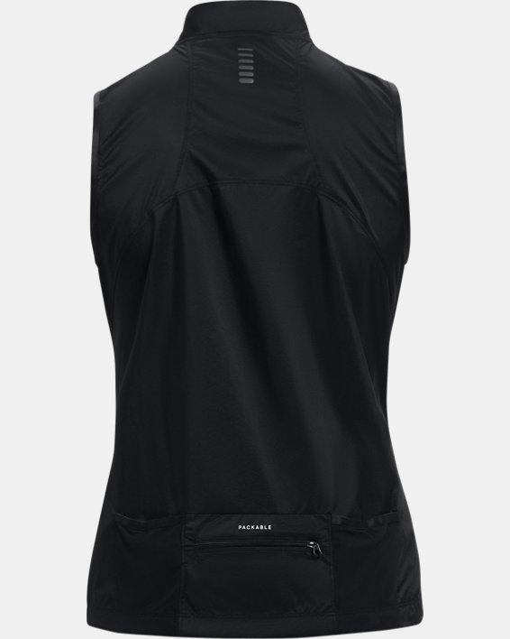 Women's UA OutRun The Storm Vest, Black, pdpMainDesktop image number 9