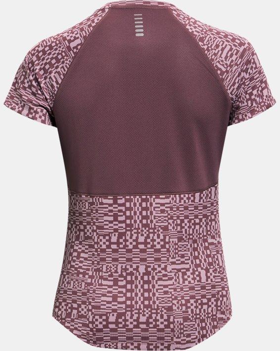Women's UA Speed Stride Printed Short Sleeve, Purple, pdpMainDesktop image number 4