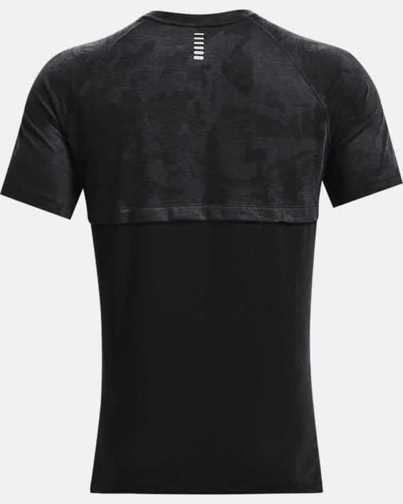 Men's UA Streaker 2.0 Camo Short Sleeve, Black, pdpMainDesktop image number 5