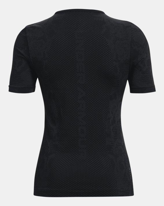 Women's UA RUSH™ HeatGear® Seamless Short Sleeve, Black, pdpMainDesktop image number 6