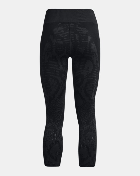 Women's UA RUSH™ HeatGear® Seamless Ankle Leggings, Black, pdpMainDesktop image number 5