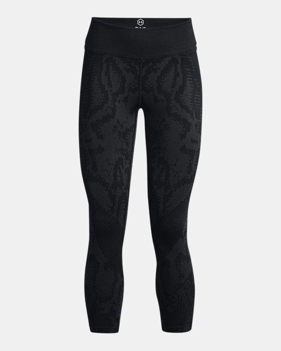 Women's UA RUSH™ HeatGear® Seamless Ankle Leggings, Black, pdpMainDesktop image number 4