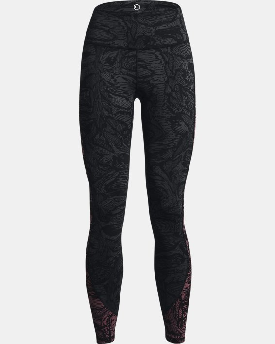 Women's UA RUSH™ HeatGear® No-Slip Waistband Printed Full-Length Leggings, Black, pdpMainDesktop image number 4