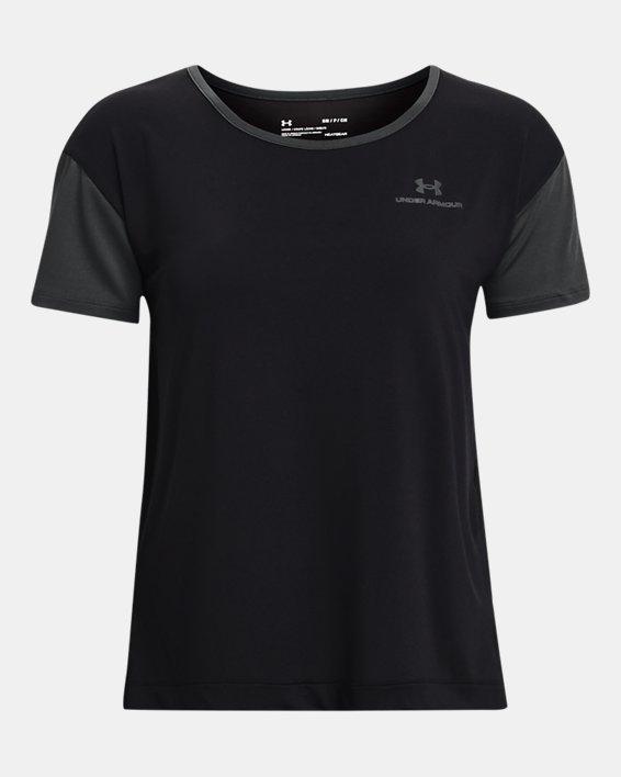 Women's UA RUSH™ Energy Colorblock Short Sleeve, Black, pdpMainDesktop image number 3
