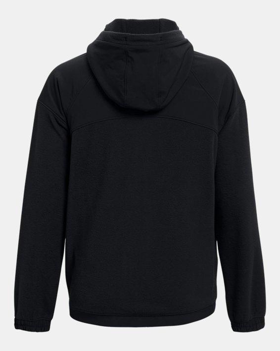 Women's UA RUSH™ Fleece Full-Zip Hoodie, Black, pdpMainDesktop image number 6