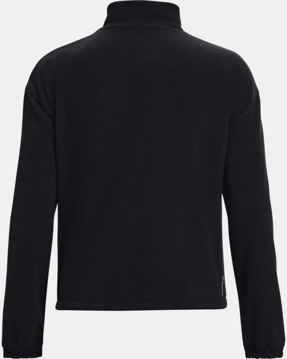 Women's UA RUSH™ Fleece ½ Zip Hoodie, Black, pdpMainDesktop image number 6