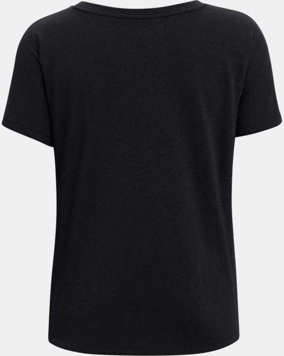 Women's UA Repeat Wordmark Graphic T-Shirt, Black, pdpMainDesktop image number 1