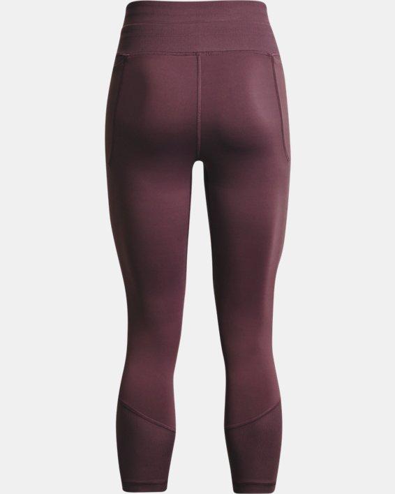 Women's UA Meridian Rib Waistband Ankle Leggings, Purple, pdpMainDesktop image number 5