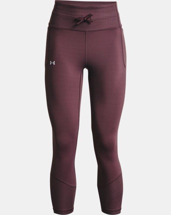 Women's UA Meridian Rib Waistband Ankle Leggings, Purple, pdpMainDesktop image number 4