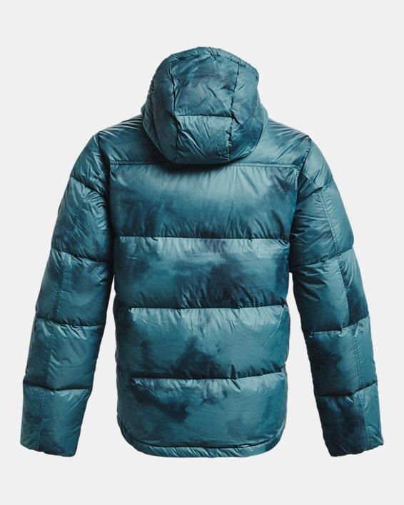 Men's ColdGear® Infrared Down Printed Jacket, Blue, pdpMainDesktop image number 7