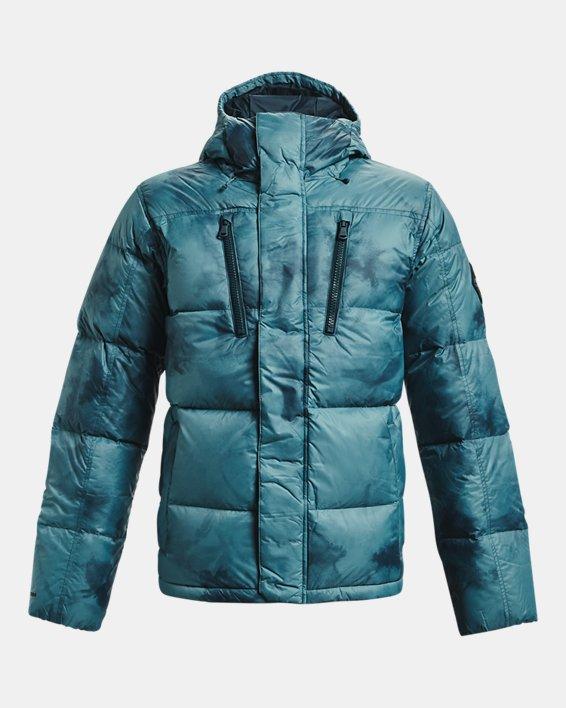 Men's ColdGear® Infrared Down Printed Jacket, Blue, pdpMainDesktop image number 6