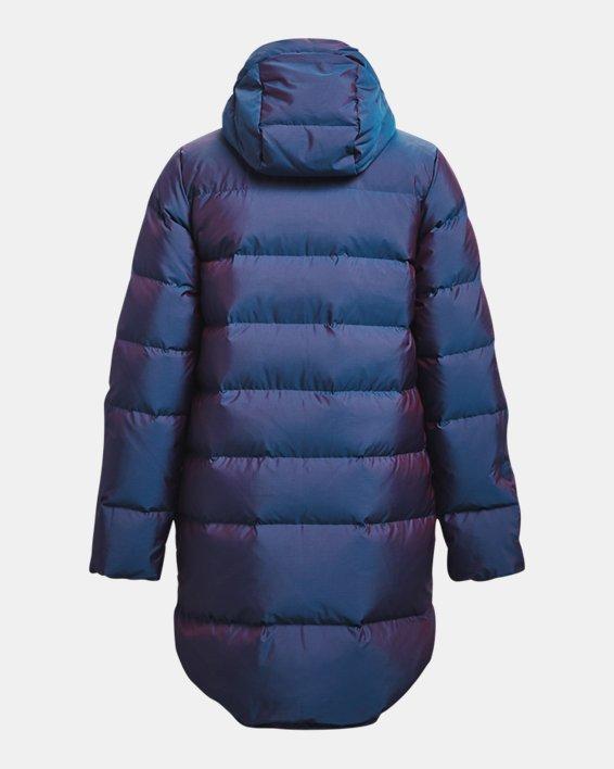 Women's ColdGear® Infrared Down Iridescent Parka, Blue, pdpMainDesktop image number 7
