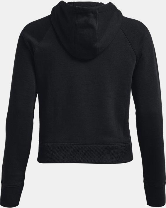 Women's UA Rival Fleece Mesh Hoodie, Black, pdpMainDesktop image number 5