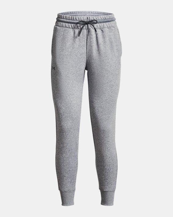 Women's UA Rival Fleece Mesh Pants, Gray, pdpMainDesktop image number 4