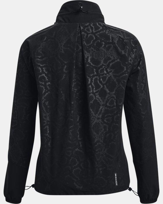 Women's UA RUSH™ Woven Print Full-Zip, Black, pdpMainDesktop image number 8