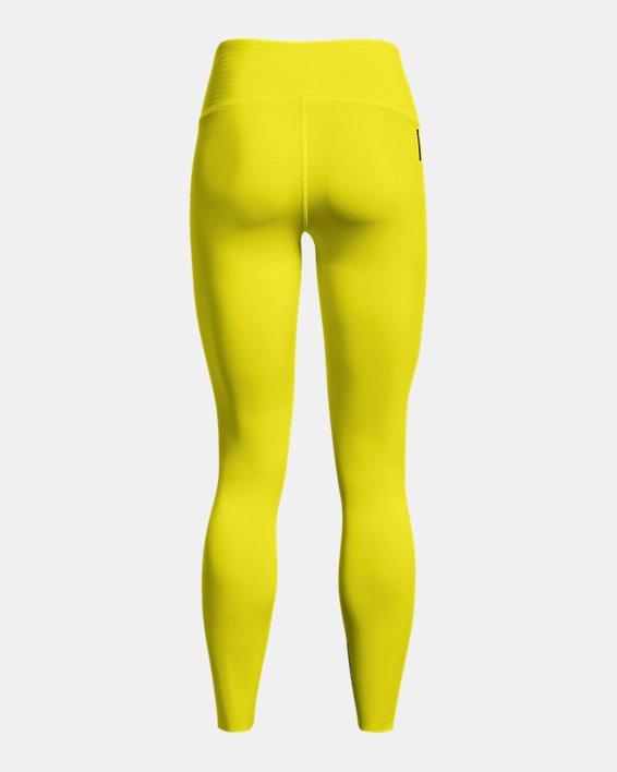 Women's UA RUSH™ HeatGear® No-Slip Waistband Custom Length Leggings, Yellow, pdpMainDesktop image number 7