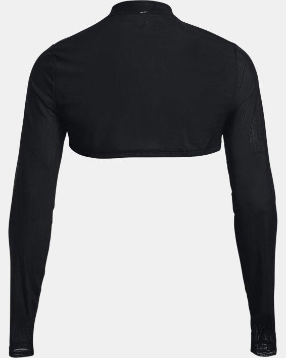 Women's UA Mesh Crop Mock Long Sleeve, Black, pdpMainDesktop image number 5