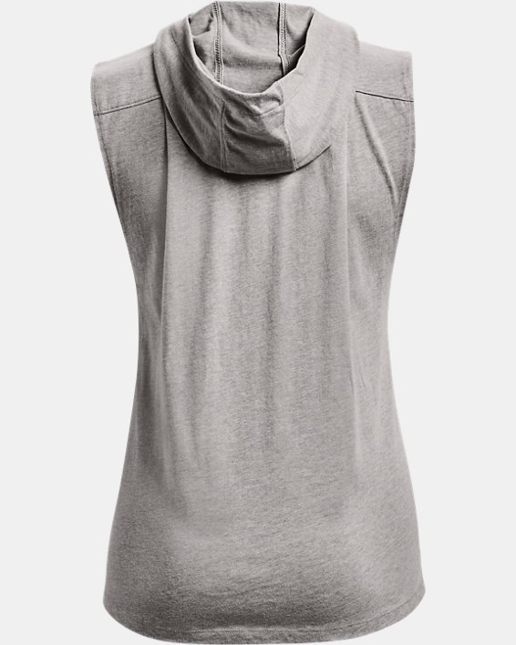 Women's Project Rock Graphic Hooded Tank, Gray, pdpMainDesktop image number 5