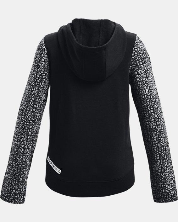 Girls' UA Rival Fleece Full-Zip, Black, pdpMainDesktop image number 1