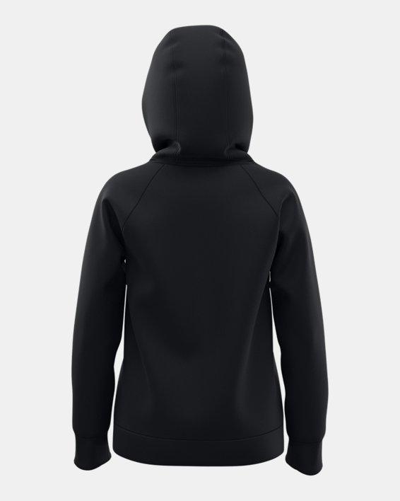 Sudadera con capucha de tejido Fleece UA Rival Logo para niña, Black, pdpMainDesktop image number 2